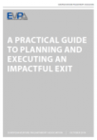 A practical guide to planning and managing an impactful exit