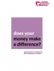 Does your money make a difference